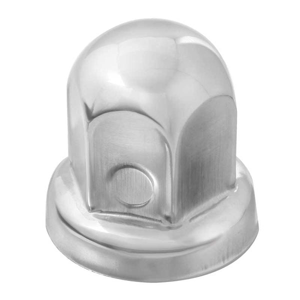 Chrome Plastic Bullet Push On Nut Cover With Flange