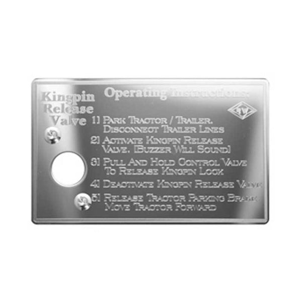 Stainless Steel Kingpin Release Valve Control Plate