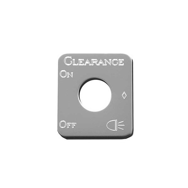 Stainless Steel Clearance Lights Switch Plate