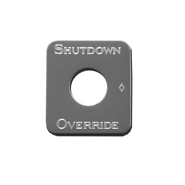 Stainless Steel Shutdown Override Switch Plate