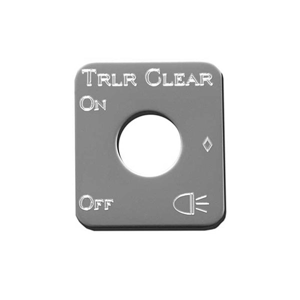 Stainless Steel Trailer Clearance Switch Plate