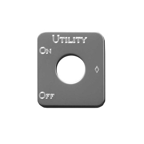 Stainless Steel Utility Light Switch Plate
