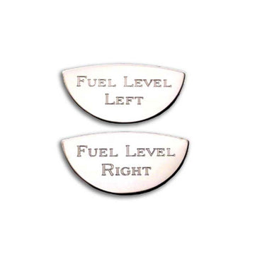 Stainless Steel Fuel Level Left & Fuel Level Right Gauge Emblem