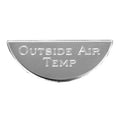 Stainless Steel Outside Air Temperature Gauge Emblem