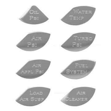 Stainless Steel Master Pack A Gauge Emblems