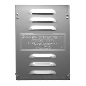 Stainless Steel Fuse/Breaker Compartment Door with Louvers