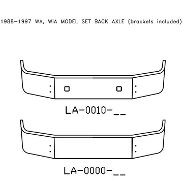 1988-1997 Volvo WA, WIA Model Set Back Axle Bumper