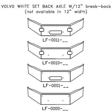Volvo White Set Back Axle with 12 Inch Break-Back Bumper