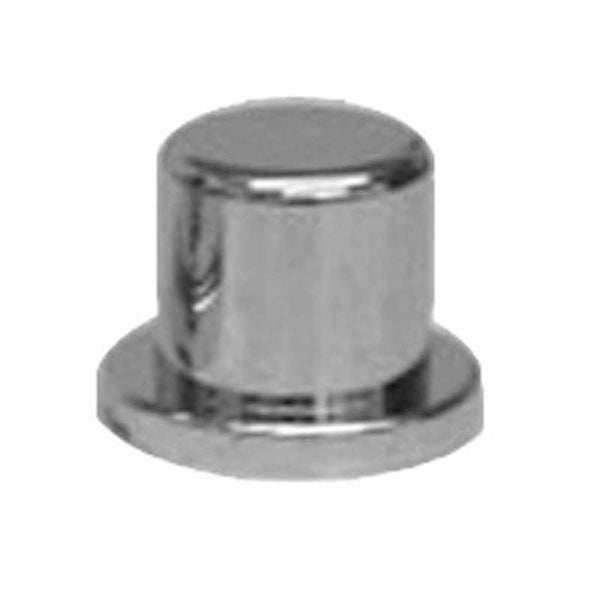 "Chrome Plastic 11/16"" and 17MM Top Hat Lug Nut Cover"