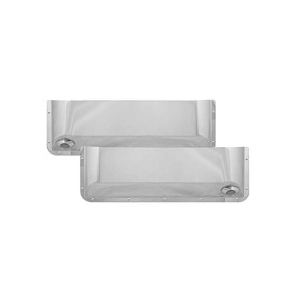 Stainless Steel Long Door Pockets with 1 Clear Light