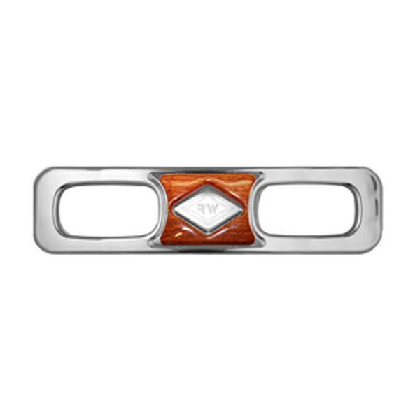 Chrome Dashboard Side Vent Trim Panel with SS Diamond Insert