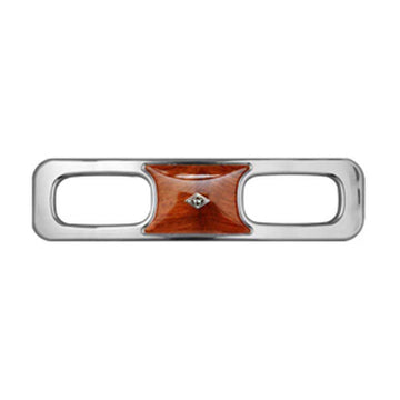 Chrome Dashboard Side Vent Trim Panel With Engraved Diamond Logo