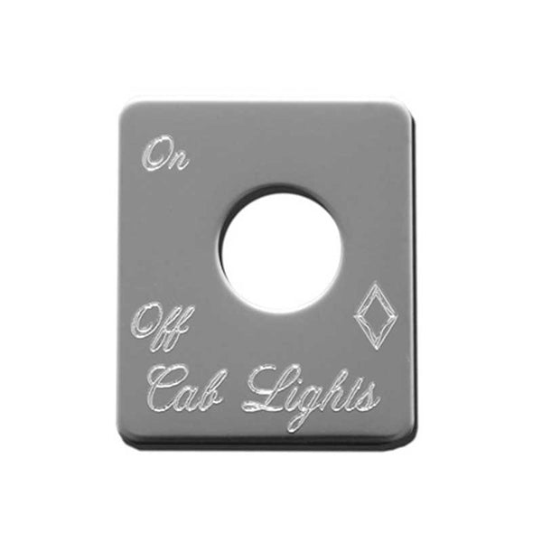 Stainless Steel Cab Lights Switch Plate