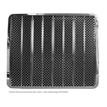 Stainless Steel Oval Hole Pattern Grill with Reinforcement Bars