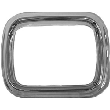 Single Headlight Pod Bezel with Visor