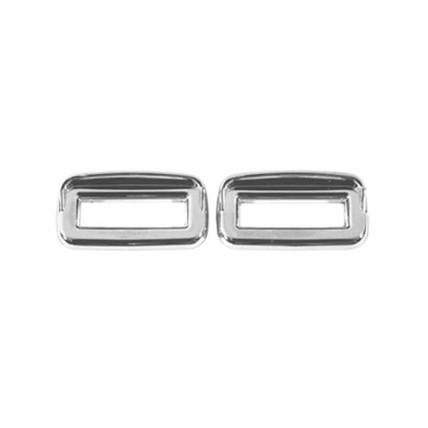 Chrome Switch Label Bezel Cover with Visor (Set of 6)