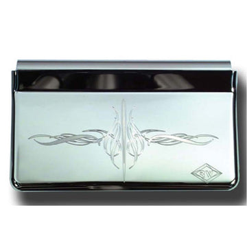 Stainless Steel Ashtray Cover Engraved with E2 Flourish