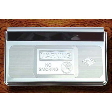 Stainless Steel Ashtray Cover Engraved with No Smoking