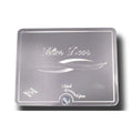 Stainless Steel A/C Heater Filter Engraved Door Cover