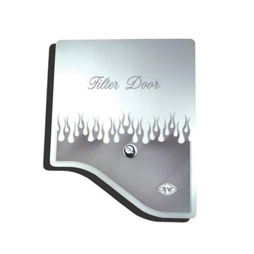 SSl A/C Heater Filter Engraved with E4 Flourish Door Cover
