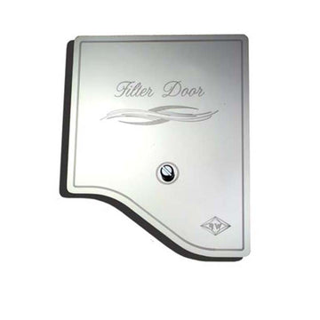 SS A/C Heater Filter Engraved with E Flourish Door Cover