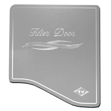 Engraved Stainless Steel A/C Heater Filter Door Cover