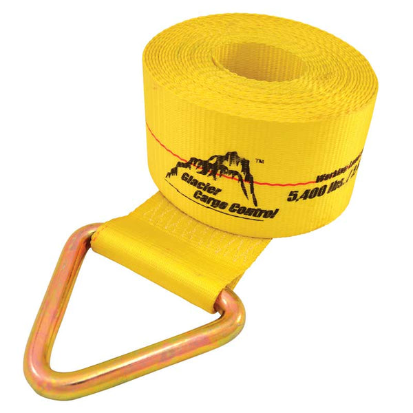 "4"" Wide Winch Strap with V-Ring"