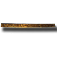 Windshield Trim Center Post Divider Genuine African Rosewood Fits 2001 and newer 370 series (Ergonomic) model dashes