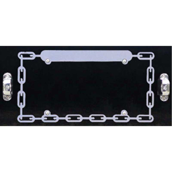Chain Perimeter with Blank Top License Plate