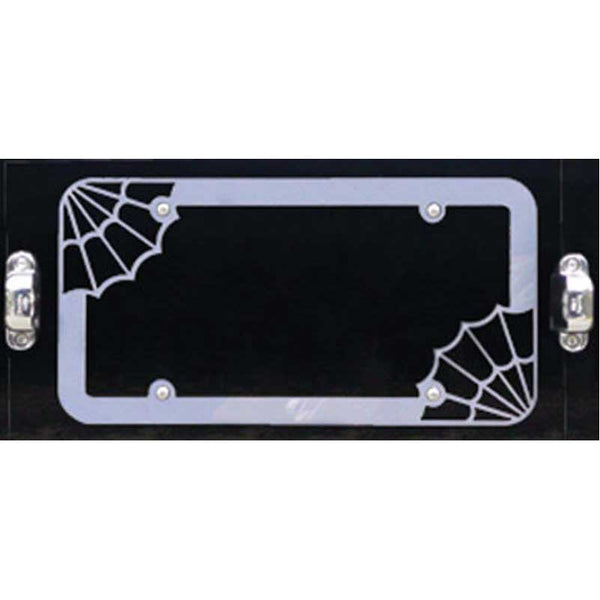 Spider Web License Plate