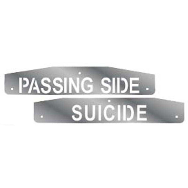 "Designer Mudflap Weights ""Passing Side"" ""Suicide"""