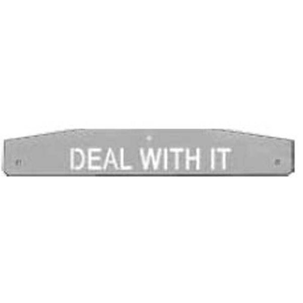 "oadworks Designer Mudflap Weights ""Deal with It"""
