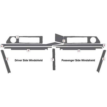 Freightliner Classic/FLD Interior Upper Cab Stainless Steel Trim