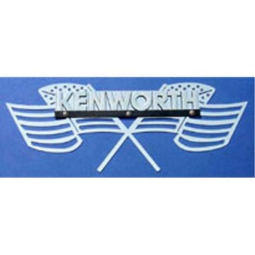 "Kenworth Side of Hood Logo Trim - ""Old Glory"""