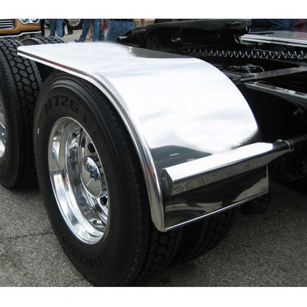 66 Inch Smooth Rolled End/Flange Half Fender with Mounting Kit