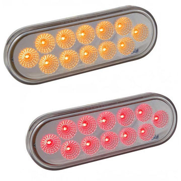 Standard 12 LED Stop / Tail / Turn Light with Clear Lens