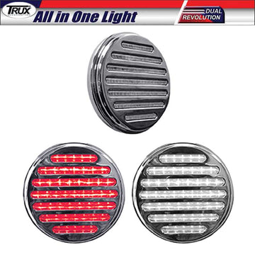 4 In Dual Red Stop/Tail/Turn & White Backup LED All in One Light