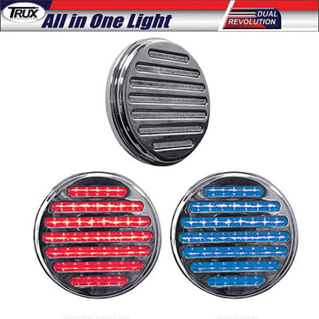 4 In Dual Red Stop/Tail/Turn & Blue Backup LED All in One Light