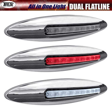 6 Inch Dual Red Stop/Turn & White Back Up LED All in One Light