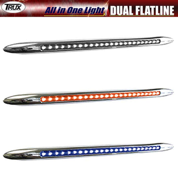 17 Inch Dual Amber Turn Signal/Blue Marker LED All in One Light