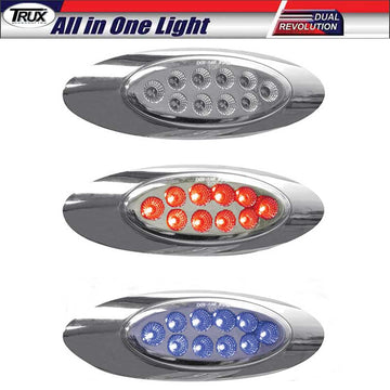M1 Style Dual Red/Blue Marker 10 LED All in One Light