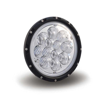 White LED Round Projector Headlight with 1000 Lumens