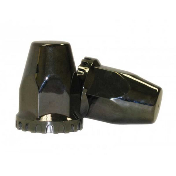 Black Chrome Plastic 33mm Threaded Nut Cover with Flange