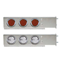 Stainless Steel Flat Top Mud Flap Hanger Light Bars