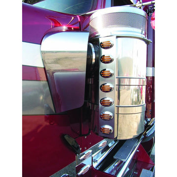 Stainless Kenworth W900 Blank Air Filter Shrouds