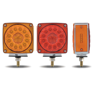 Double Face Super Diode Square LED Single Post