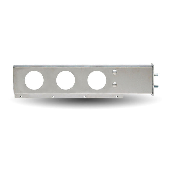 "33"" Stainless Steel Flat Top Mud Flap Hanger with 4"" Holes"