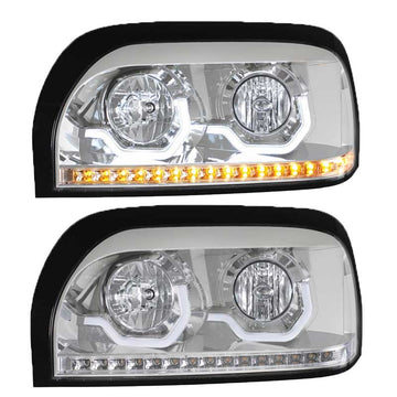 Chrome Freightliner Century Projection Headlight Driver