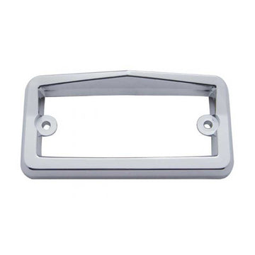 Chrome Plastic Rectangular Cab/ Sunvisor Bezel with Visor