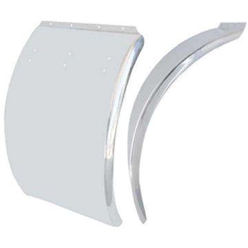 Deluxe Stainless Curved 24 Inch x 36 Inch Quarter Fender Blank
